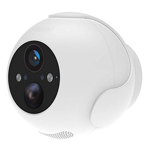Wireless Rechargeable Battery Powered WiFi Camera, Indoor/Outdoor Home Security Camera with Spotlight, 1080P HD, Motion Detection, Color Night Vision, 2-Way Audio, IP66 Waterproof, Cloud/SD Storage