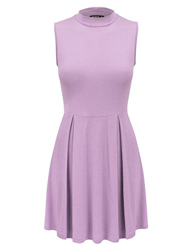 Tie USA Made Pullover Dye Mock Come Tunic Neck Dress Womens California Wdr1074 Sleeveless in Together CTC lilac xA6SqxT8