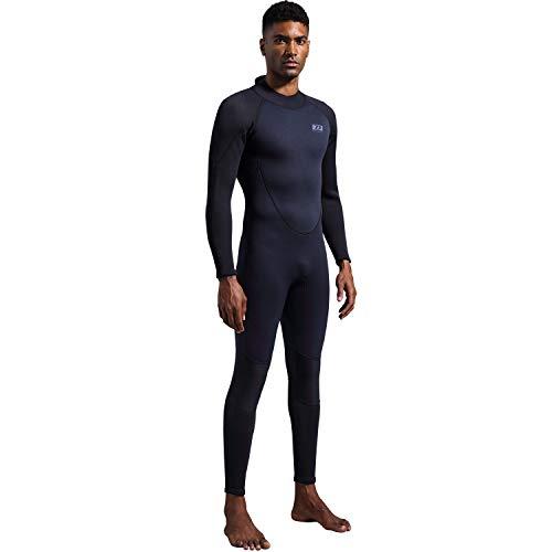 dark lightning Premium CR Neoprene Wetsuit,Mens Full Body Suit for Scuba Diving/Surfing/Snorkeling/Kayaking Thermal Wetsuit in 3/3mm (Men's Small)