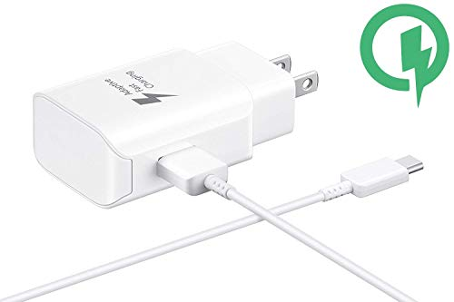 Fast 25W Charging USB-C Wall Samsung Galaxy Book 12-inch with Detachable Quick Charge 3.0 USB-C/USB Cable. (White)