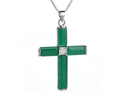 Jade Cross Pendant Necklace ()