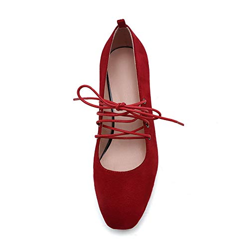 Pumps BalaMasa Urethane Comfort Womens Herringbone APL10741 Solid Red Shoes wXX1UPqx