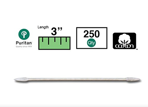 Harmony Cone - Puritan Cotton Swab, Double Cone Hard Sharp Point Tip, Paper Shaft, 250/Pack
