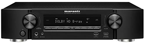 Marantz NR1510 UHD AV Receiver (2019 Model) - Slim 5.2 Channel Home Theater Amplifier, Dolby TrueHD and DTS-HD Master Audio | Alexa Compatible | Stream Music via Wi-Fi, Bluetooth and HEOS