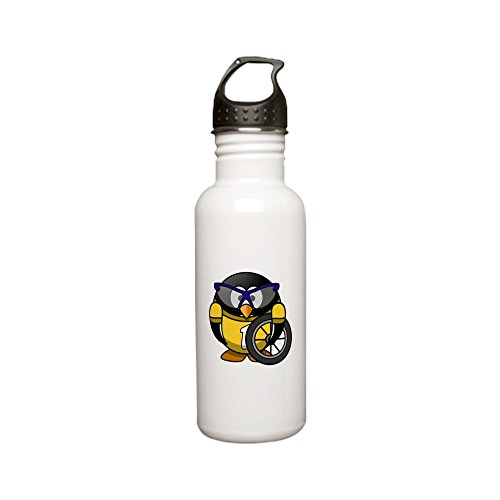 le 0.6L Little Round Penguin - Cyclist in Yellow Jersey (Cervelo Race)
