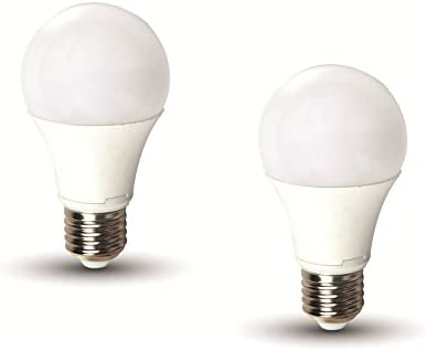 V-TAC V 2129 Pack 2 Bombillas LED E27 Bulb 9 W A60 3 Step: Amazon ...
