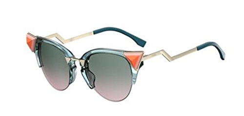 New Fendi IRIDIA FF 0041/S Iridia BR0/JP Blue Pink/Green Pink Sunglasses