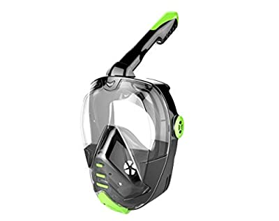 AQTECKNO Diving Mask Snorkeling Full Face Mask Dry Top Snorkel Mask Ear Valve