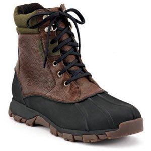 Sperry Top-Sider 0783928 Men's Wetlands High Snow Boots, Black/Olive, 8 M US