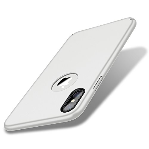 Case for iPhone X ,Eartonx Slim Fit Shell Hard Plastic PC Thin Mobile Phone Cover Case Compatible with iPhone X (5.8)(2017)(Ceramic White)