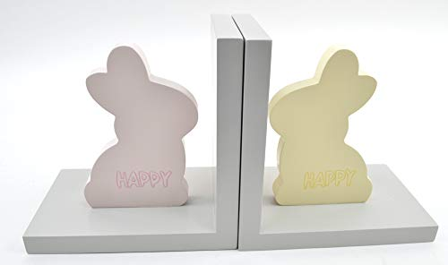 - Concepts in Time 12x6 Set of 2 MDF Rabbit Bookends for Kids