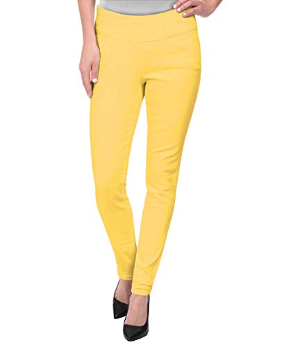 Super Comfy Stretch Pull On Millenium Pants KP44972 Yellow 2X ()
