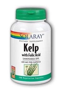 Solaray Kelp Capsules, 550 mg, 180 Count - Solaray Kelp
