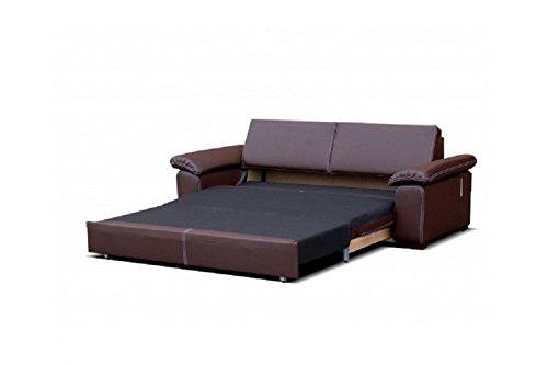 Pu Dolce Chloe Places Ivoire Cuir 3 Convertible Canapé Design 0Ok8nwP