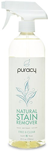 Puracy Natural Laundry Stain Remover, Enzyme Spot & Odor Eliminator, Free & Clear, 25 Ounce