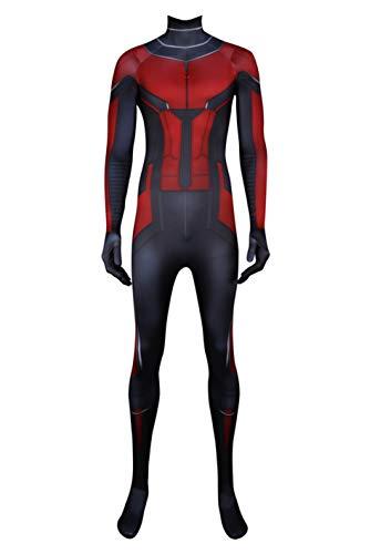 Wolfbar Men's Ant Suit Zentai Bodysuit Tights Halloween Cosplay Costume Adult Male XS]()