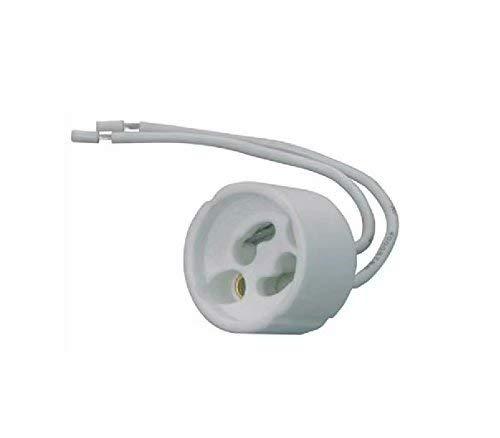Pack 10 unidades Portalámparas para bombillas GU-10: Amazon.es: Electrónica