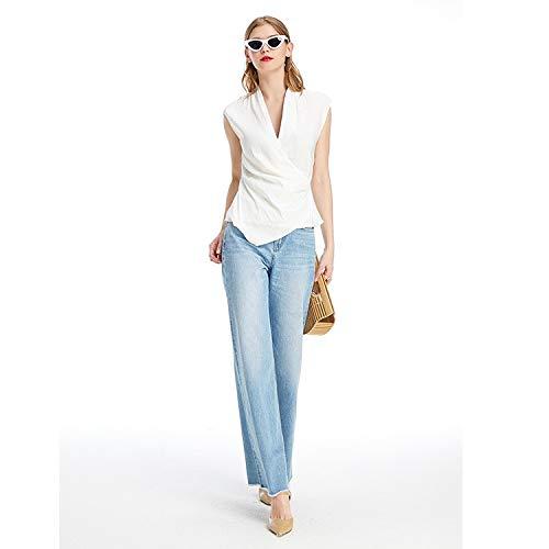 Larghe S Azzurro Pantaloni Tempo Alta Vita Magro Sottili Libero Jeans Jeans Donna E Mvguihzpo Larghe Donne Estate Gambe w4U88H
