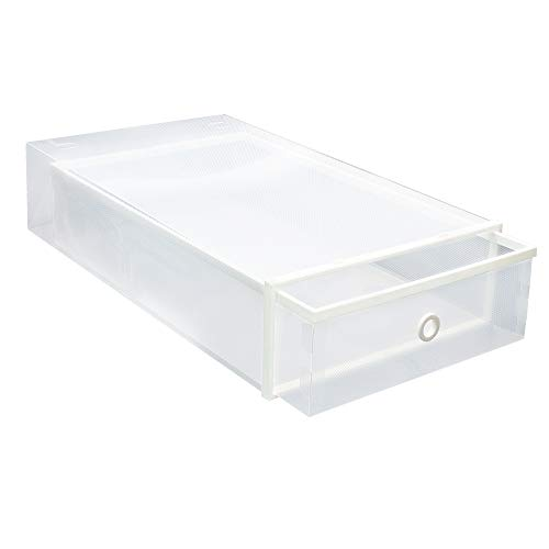 NEXTCOVER Clear Stackable Boot Storage Box- 2 Pack,Clear,NBB21832.