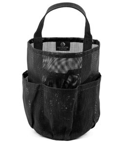 1 X The Original Mesh Shower Bag for Dorm & Gym, Black, by Saltwater Canvas LLC