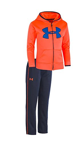 Under Armour Baby Boys' Utility Hoodie Track Set (Magma Orange (27D92037-80)/Obsidian/Magma Orange, 24 Months)