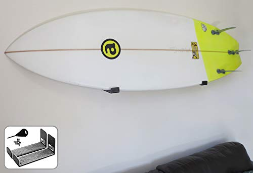 BPS Minimalist Board Wall Racks for Surfboard or Longboard – Choose Color and Bundle