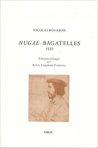 Livre Nugae (Bagatelles) : Edition bilingue français-latin (1533) pdf epub