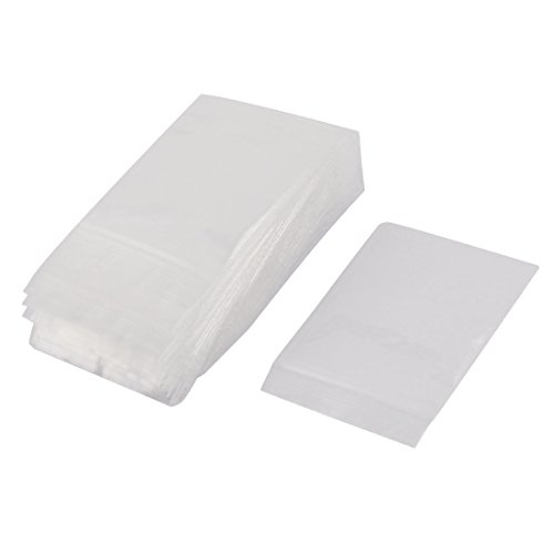 100 Pcs Zip Lock Bags Clear Plastic Poly Reclosable 2 Mil 1.6