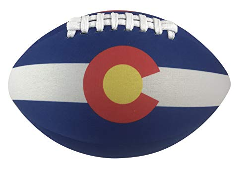 Youth Football State Jersey - Get A Gadget Colorado State Flag Football Soft Neoprene Ball 8 Inches Long