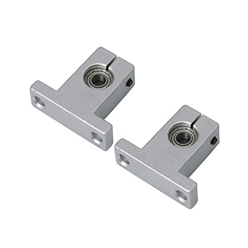 CNBTR 2 PCS Aluminum Alloy Linear Rail Bearings Guide Support Bracket Block Double Bearins Stand Type SK13 6MM Bearing ID