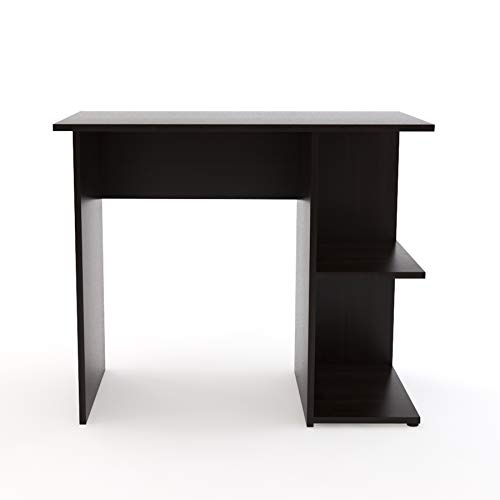 Dr Smith Engineered Wood Computer Desk - Laptop Desk, Study Table with Bookshelf for Students (Dark Brown)