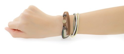 (Multi-layer Handmade Leather Hemp Bracelet Wristband: Gaia Medley C321)