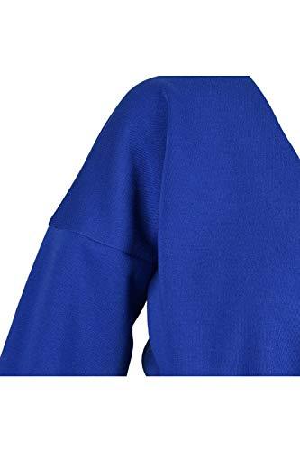 Bleu shirt Manches En Et V Femme À Longues Sexy Sweat Encolure RwPAvqTv