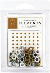 Medium Eyelet Assortment (Medium Eyelet Assortment 48-Pack,)