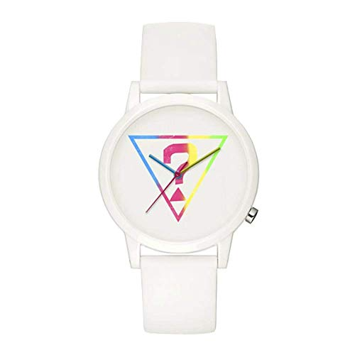 Guess Originals White Logo Quartz White Dial Ladies Watch V1024M1