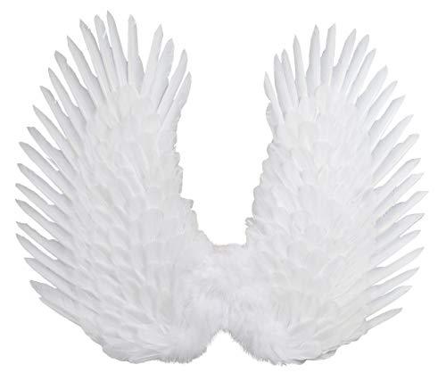 FashionWings (TM White Duo Use Costume Feather Angel Wings Pointing up or Down