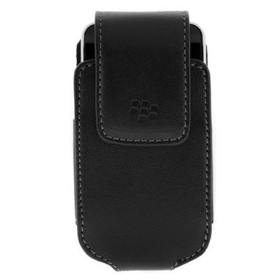 Blackberry OEM Carrying Lambskin Leather Pouch Case (Holsters Swivel 8220 Leather)