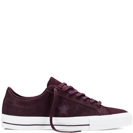 Converse Men's One Star Pro OX Shoes (08.5, Black Cherry/White/White) (Star Ox Shoes)