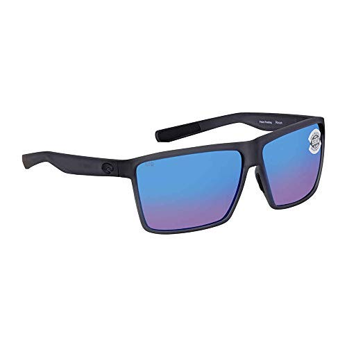 Costa Rincon Smoke Crystal Plastic Frame Blue Lens Unisex Sunglasses RIN156OBMGLP by Costa Del Mar