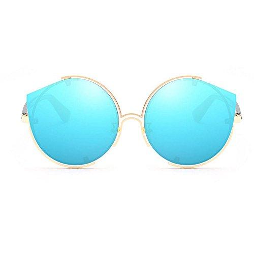 GAOLIXIA Lunettes de Mme lunettes Eye Lunettes film Metal soleil Shade UV classique Lunettes soleil couleur soleil Blue de Cat anti de ddxqr0