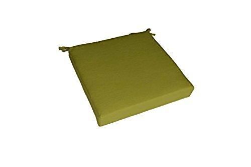 Solid Kiwi Green Universal Foam Seat Chair Cushion w Ties – Indoor Outdoor – Choose Size 22 x 22