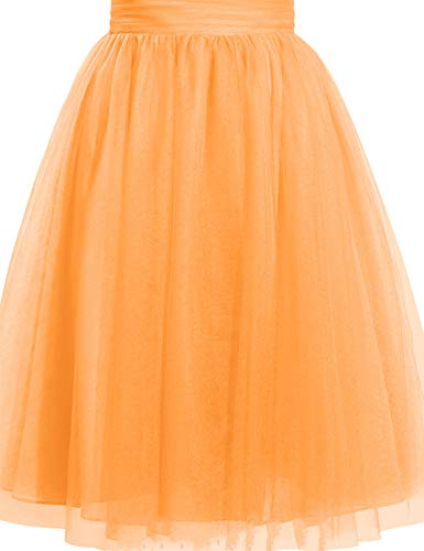 (Cdress Women's Tulle Knee Length Short Tutu Skirt Middle A-Line for Prom Party XXL)
