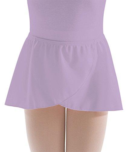 Motionwear Women's Pull-On Wrap Sheer Skirt S PURPLE