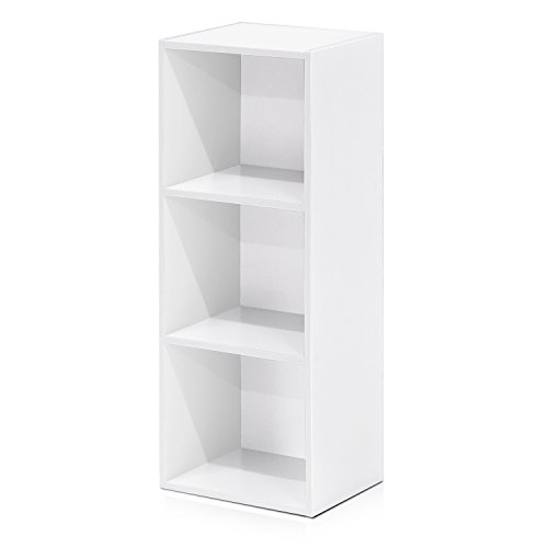 3 Open Storage - Furinno 3-Tier Open Shelf Bookcase, White 11003WH
