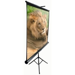 Elite Screens Tripod Portable Projection Screen. 99IN DIAG PORTABLE PULL UP SCREEN 1:1 70X70 TRIPOD BLACK CASE P-SCR. 70' x 70' - Matte White - 99' Diagonal