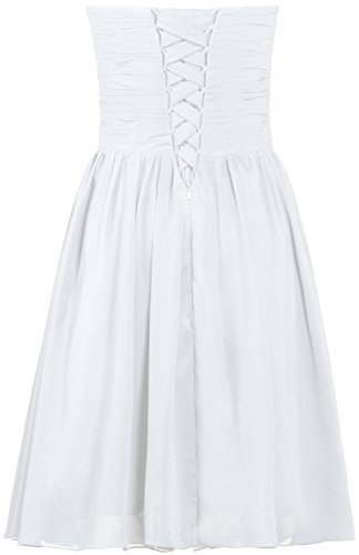 ANTS Short Homecoming Strapless White Crystal Women's Dress Cocktail Gown rvzTrwq