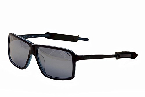 Puma Sunglasses 15156 Rectangular Sunglasses,Blue,57 - Puma Sunglasses Men For