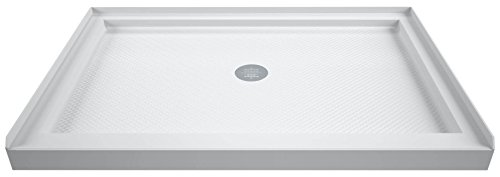 DreamLine DLT-1134480 White Shower Base Slimline 34 In. by 48 In. single Threshold Shower Base Center Drain Base 34 In. D x 48 In. W x 2.75 In. - Inch Shower 34