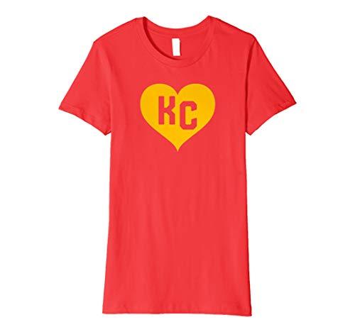 (Womens Cute I Love Kansas City Heart KC Football Graphic)