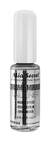 Mia Secret cromo espejo uñas maletero, Plata 10ml CH-102